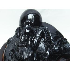 2.8Kg モリオン 純天然 黒水晶  手彫り  龍  置物 t261-890|seian|03