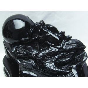 2.8Kg モリオン 純天然 黒水晶  手彫り  龍  置物 t261-890|seian|04