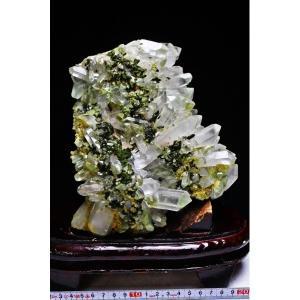 2.5Kg 緑トルマリン入り ヒマラヤ水晶クラスター パワーストーン 天然石 t768-639|seian