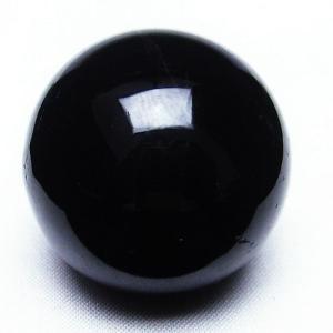 モリオン 純天然 黒水晶  丸玉 36mm t220-3505|seian