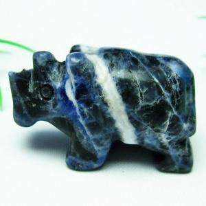 ソーダライト牛 置物 パワーストーン 天然石 t300-3068|seian