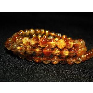 ファイナルグレードルチルクォーツ(金針ルチル水晶) ネックレス 6mm パワーストーン 天然石 t553-66|seian|04