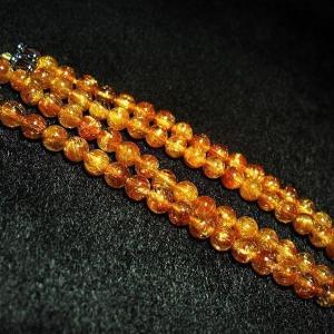 ファイナルグレードルチルクォーツ(金針ルチル水晶) ネックレス 5mm パワーストーン 天然石 t553-78 seian