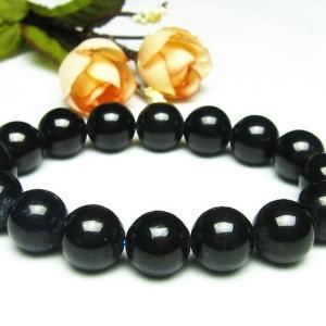 黒サファイア ブレスレット 12mm パワーストーン 天然石 t589-3120|seian