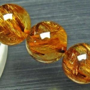 ゴールドタイチンルチル ブレスレット 12mm h214-6|seian