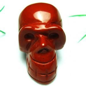 赤アゲート ドクロ 置物 パワーストーン 天然石 t600-892|seian
