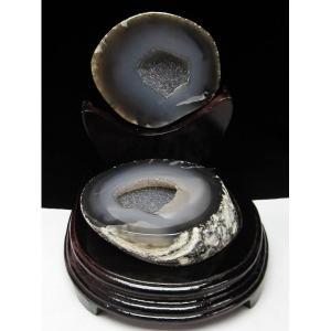 1.6Kg ウルグアイ産 ペア水晶トレジャーメノウ パワーストーン 天然石 t605-2284|seian