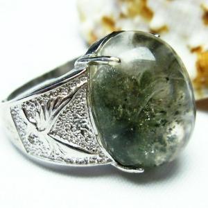 ガーデンクォーツ(庭園水晶) 指輪 (19号) t137-1375|seian