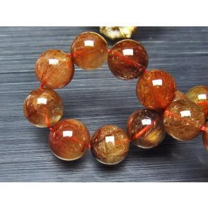 ルチルクォーツ(金針ルチル水晶) ブレスレット 15mm t50-5234|seian|03