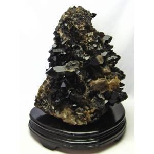 アーカンソー産  モリオン 原石 本物  純天然 黒水晶 クラスター 7.1Kg パワーストーン 天然石 t724-1449|seian