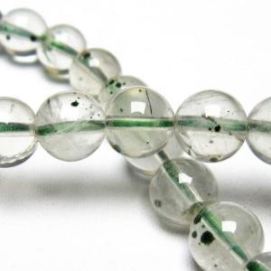 メタモルフォーゼス緑針入り 水晶 丸玉 ブレスレッ7mm t682-197 seian