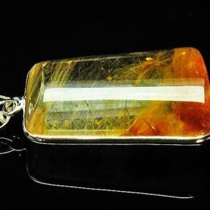 放射ルチルクォーツ(金針ルチル水晶) ペンダント パワーストーン 天然石 t191-911 seian
