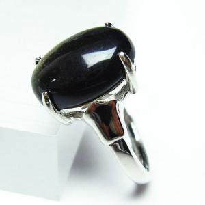ゴールドキャッツアイオブシディアン  指輪 (18号) t275-18369 seian