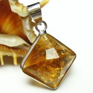 シトリン 黄水晶  ペンダント t167-1319|seian