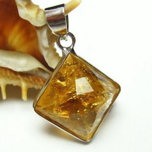 シトリン 黄水晶  ペンダント t167-1332|seian