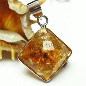 シトリン 黄水晶  ペンダント t167-1335|seian