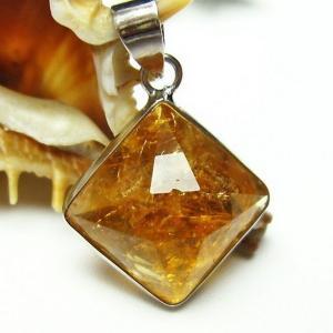 シトリン 黄水晶  ペンダント t167-1339|seian