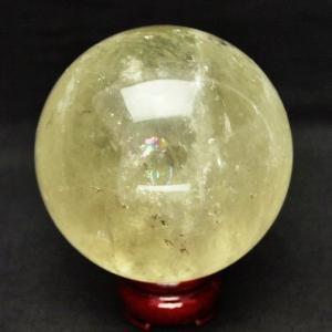シトリン水晶玉 丸玉 86mm t63-3910|seian