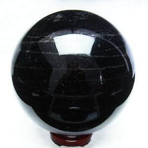 4.2Kg モリオン 純天然 黒水晶  丸玉 145mm t572-7022|seian