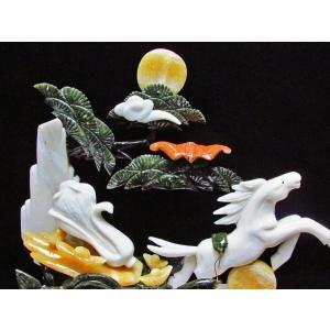 3.4Kg 漢白玉 トパーズ 手彫り 開運 天を駆る馬 彫刻品 置物 同梱不可 パワーストーン 天然石 t768-1233|seian|04