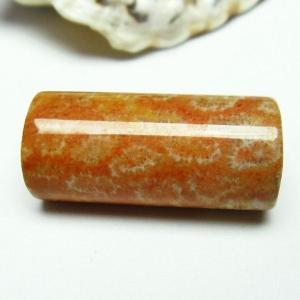 珊瑚 コーラル バレル型 ビーズ パワーストーン 天然石 t155-1482|seian