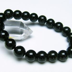 モリオン 純天然 黒水晶  ブレスレット 10mm  t112-2541|seian