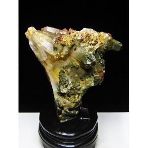 1.6Kg グリーンファントムクォーツ クラスター アメリカ産 パワーストーン 天然石 t126-7364|seian