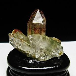 グリーンファントムクォーツ クラスター アメリカ産 パワーストーン 天然石 t126-7388|seian