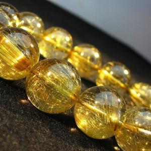 ゴールドタイチンルチル ブレスレット 17mm  K1-1246|seian