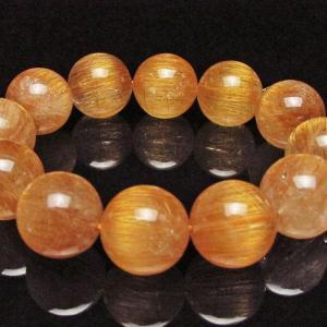 ファイナルグレード金針ルチル水晶 ブレスレット 18mm  K1-1393|seian