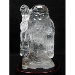 ヒマラヤ水晶寿星 置物 k1-1991|seian