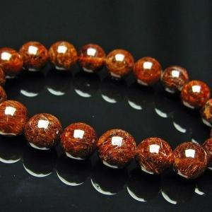 ルチルクォーツ(金針ルチル水晶) ブレスレット 10mm  K110-73 seian