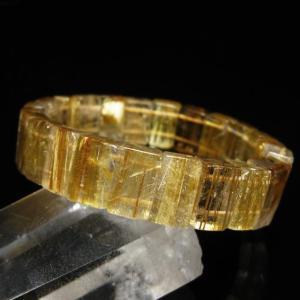 ゴールドタイチンルチル バングル  パワーストーン 天然石 l119-155|seian