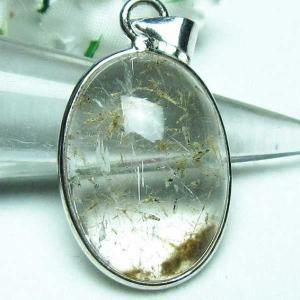 ガーデンルチル水晶 ペンダント  l357-98|seian