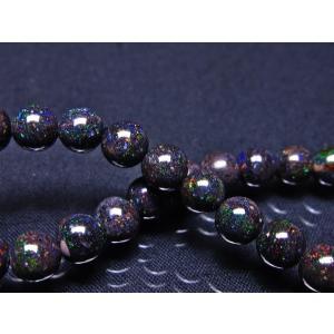 ブラックオパール ブレスレット 6mm  l378-1225|seian|04