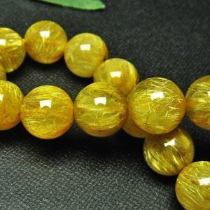 ゴールドタイチンルチル ブレスレット 12mm l68-1664 seian