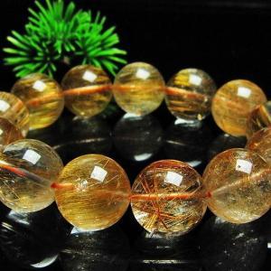 ファイナルグレードルチルクォーツ(金針ルチル水晶) ブレスレット 17mm l9-48|seian