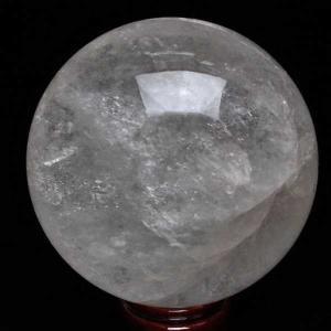 7.1Kg 虹入り ライトニング水晶 丸玉 170mm  パワーストーン 天然石 m11-670 seian