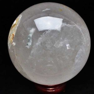 4.9Kg 虹入り ライトニング水晶 丸玉 150mm  パワーストーン 天然石 m11-736 seian
