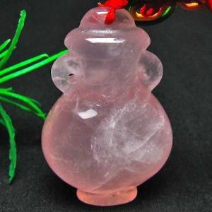 ローズクオーツ花瓶 ペンダント  パワーストーン 天然石 m118-319 seian