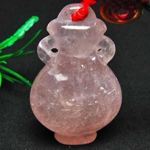 ローズクオーツ花瓶 ペンダント  パワーストーン 天然石 m118-330 seian
