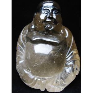 1.1Kg ライトニング水晶 [布袋] 置物 M132-28|seian