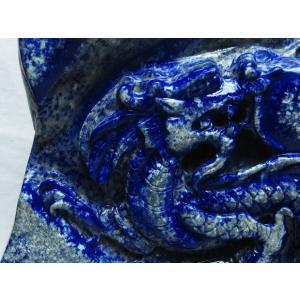 4.2Kg ラピスラズリ 手彫り 龍 置物 M170-39|seian|04
