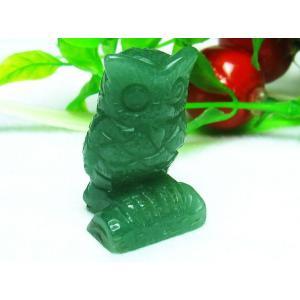 インド翡翠 フクロウ 置物 パワーストーン 天然石 m49-82 seian 04