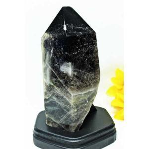 3.1Kg モリオン 原石 本物  純天然 黒水晶  六角柱 パワーストーン 天然石 m69-1018|seian