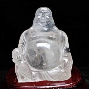1.6Kg ヒマラヤ水晶ガーデンクォーツ(庭園水晶)布袋様 置物 s30-1|seian
