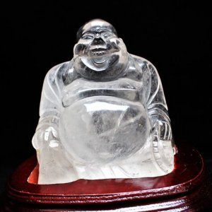 2.4Kg ヒマラヤ水晶ガーデンクォーツ(庭園水晶)布袋様 置物 パワーストーン 天然石 s30-3|seian