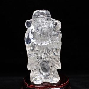 ヒマラヤ水晶 [福神] 置物 S31-8|seian