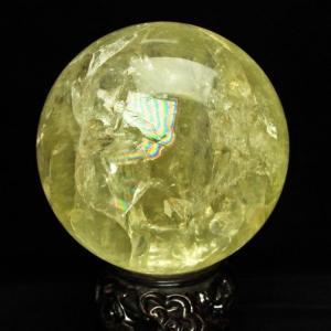シトリン水晶玉 丸玉 200mm 10.1Kg S37-77|seian
