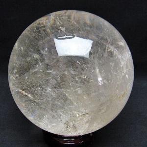 2.1Kg ガーデン水晶放射プラチナ入水晶 丸玉 115mm  S40-68|seian